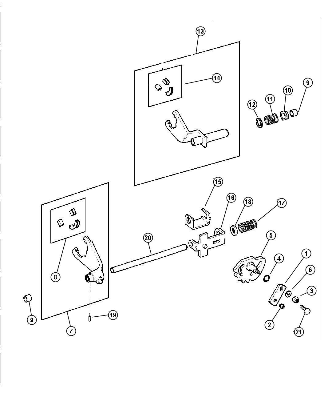Dodge Dakota Fork Transfer Case Mode Shift Ac
