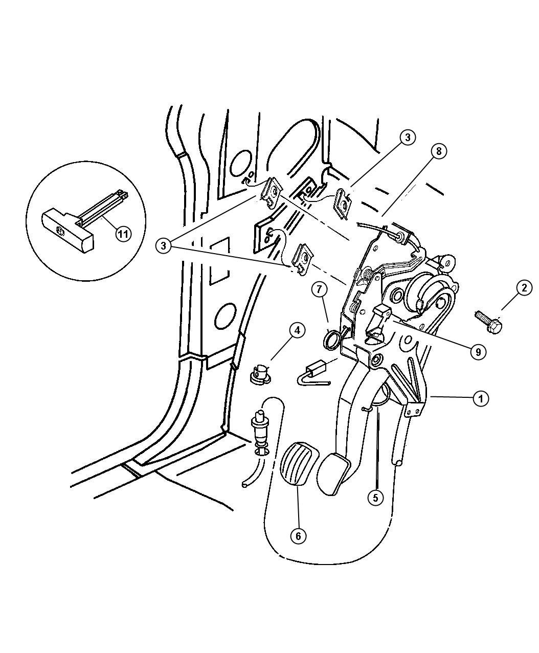 Plymouth Grand Voyager Lever Parking Brake