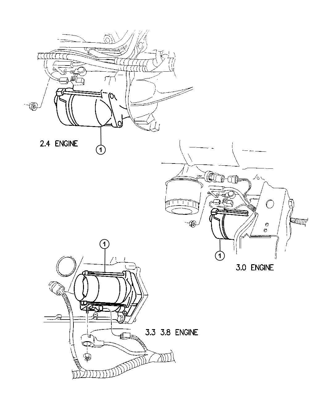 Dodge Grand Caravan Starter Remanufactured Engine Nsgs