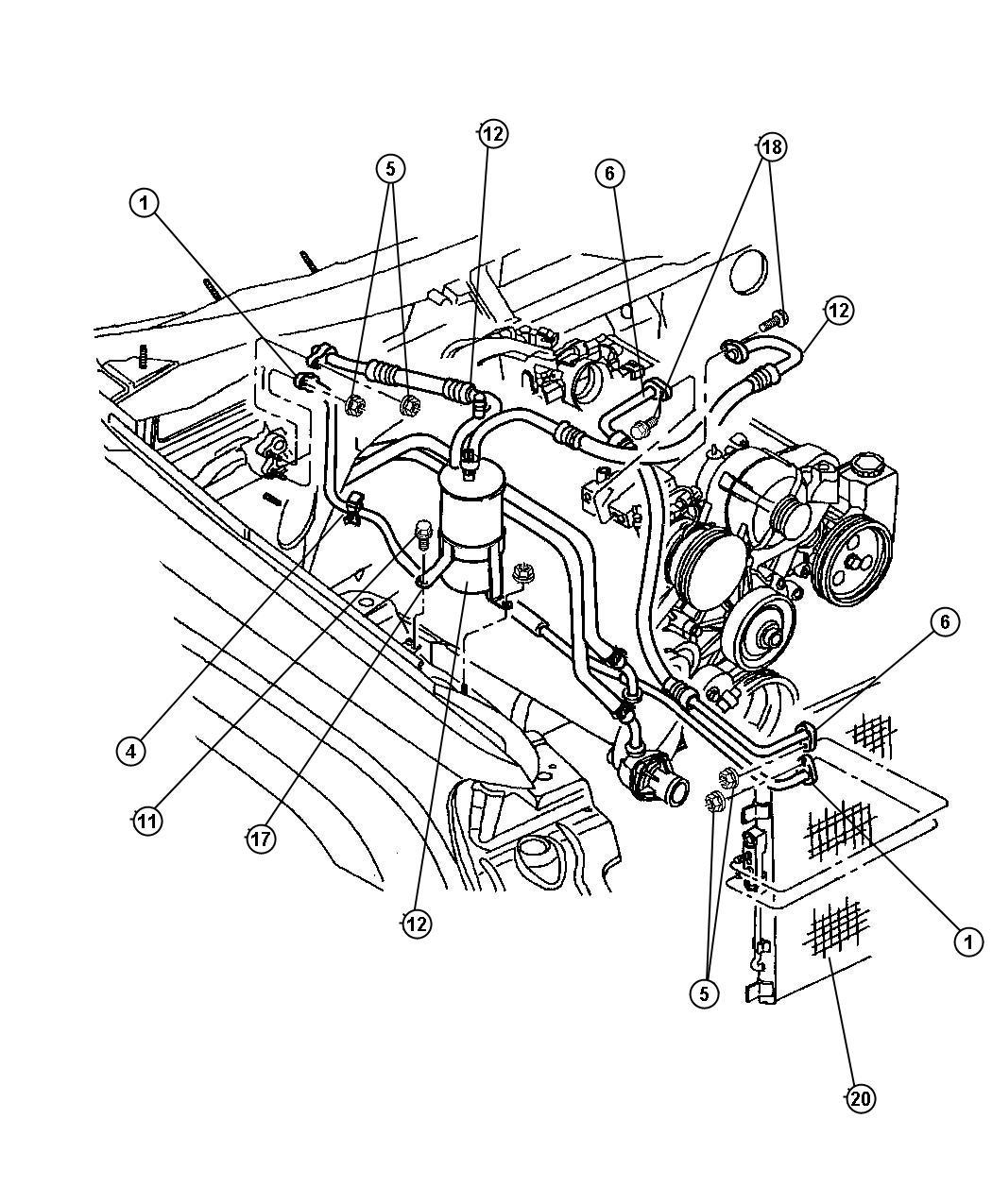 Dodge Dakota Screw Hex Flange Head M8x1 25x25 00