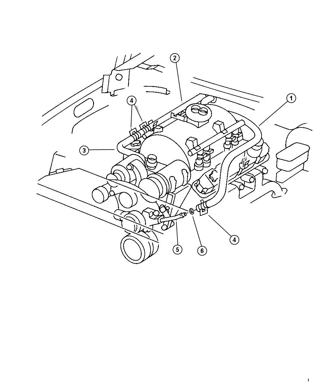 Dodge Ram Tube Water Pump Inlet Heater Return