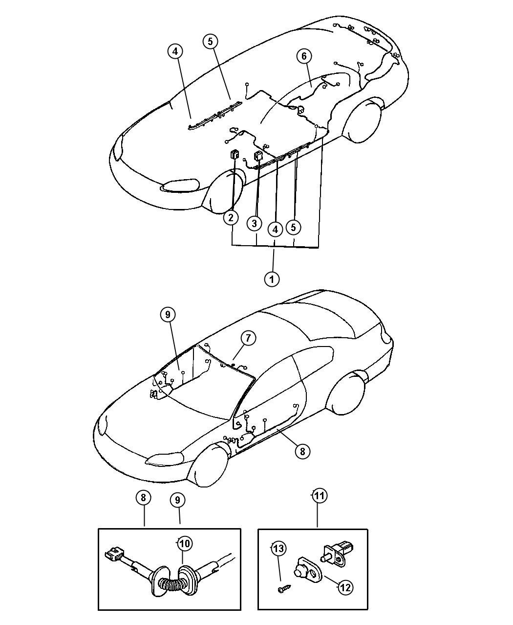 Chrysler Sebring Wiring Body With Abs