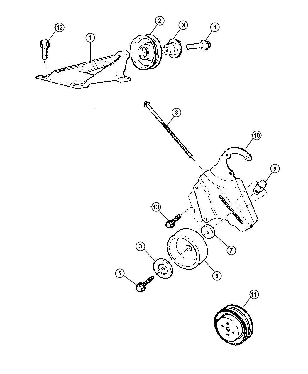 Jeep Cherokee Bracket Tensioner Adjusting Belt