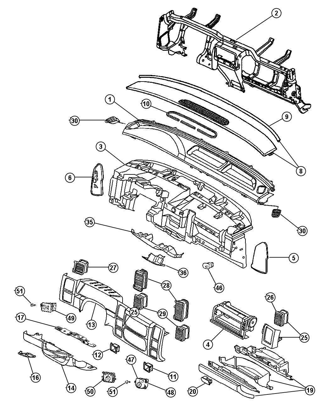 Dodge Dakota Quad Cab 4 7l V8 A T Switch Headlamp