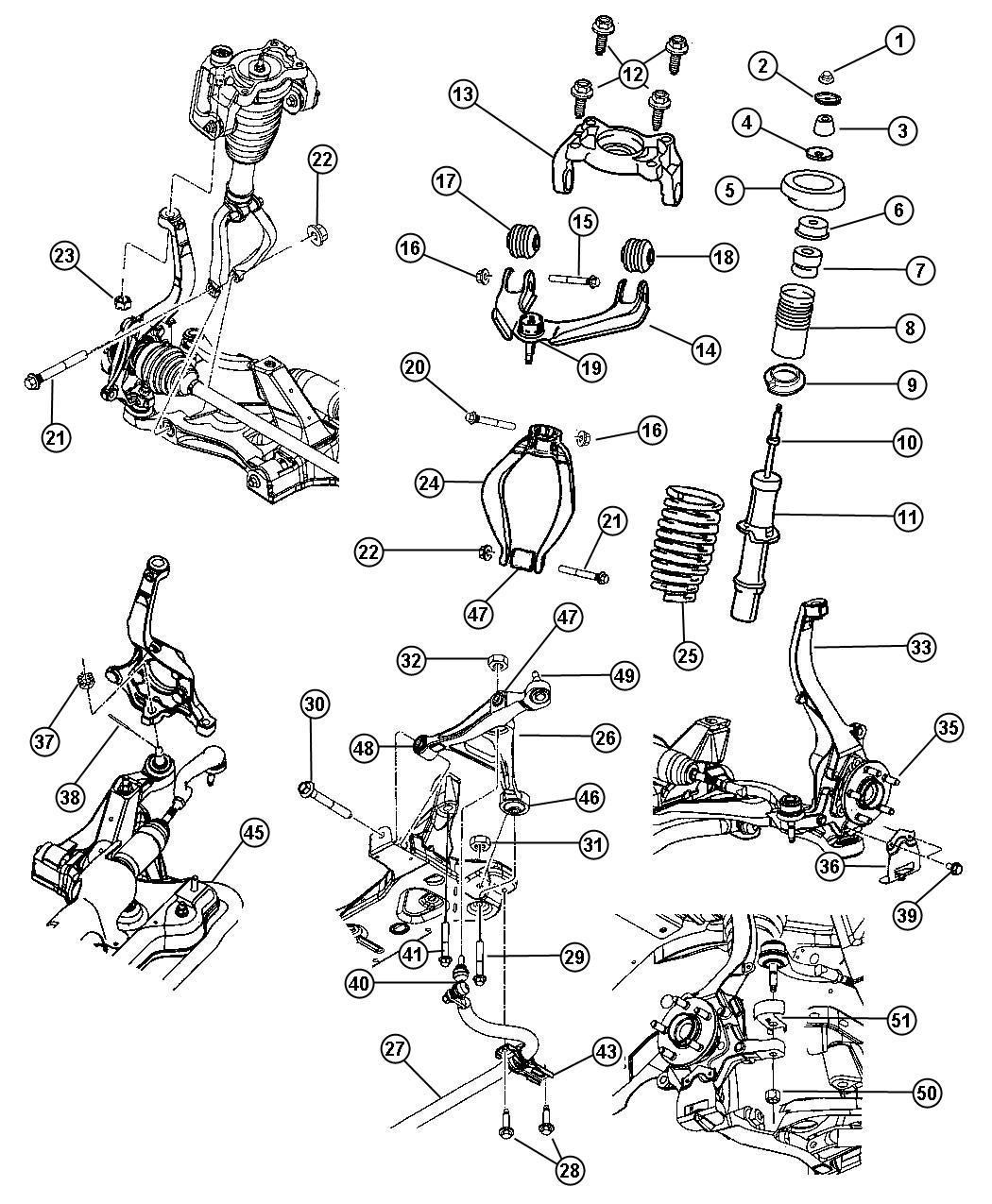 Dodge Stratus Shock Absorber Suspension
