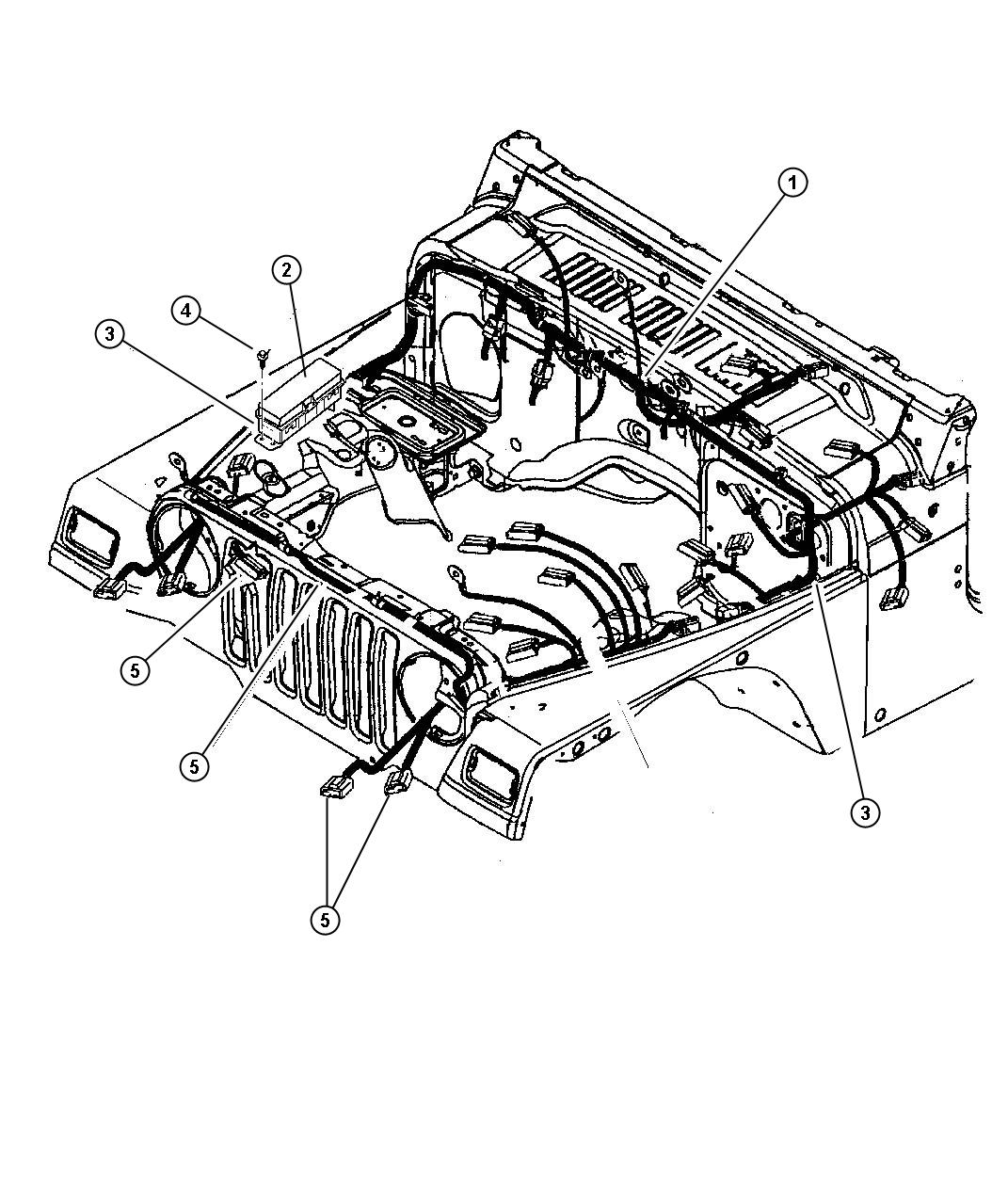 Jeep Bracket Wiring Harness Side Cowl