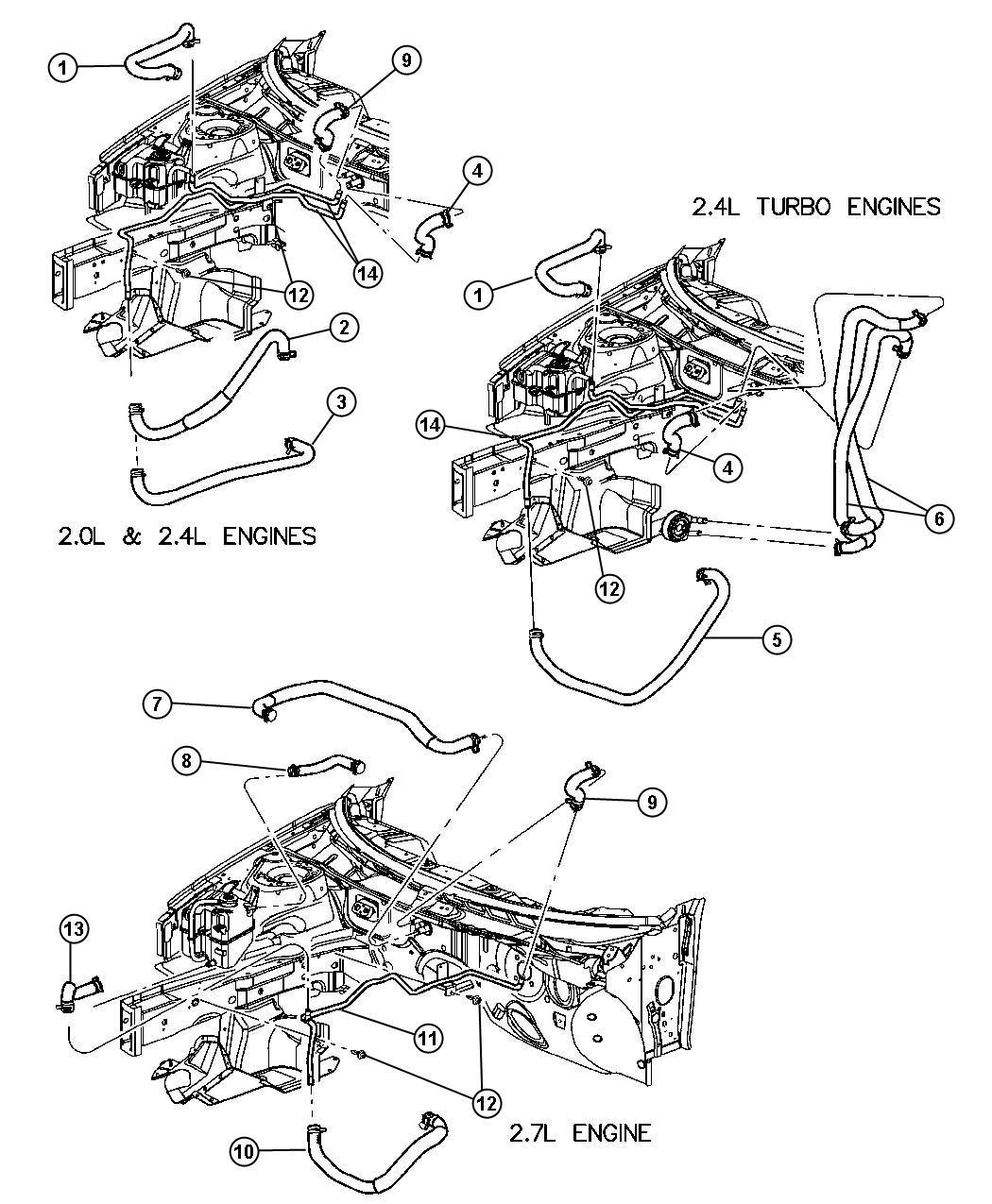 Chrysler Sebring Tube Heater Core Includes Both Tubes