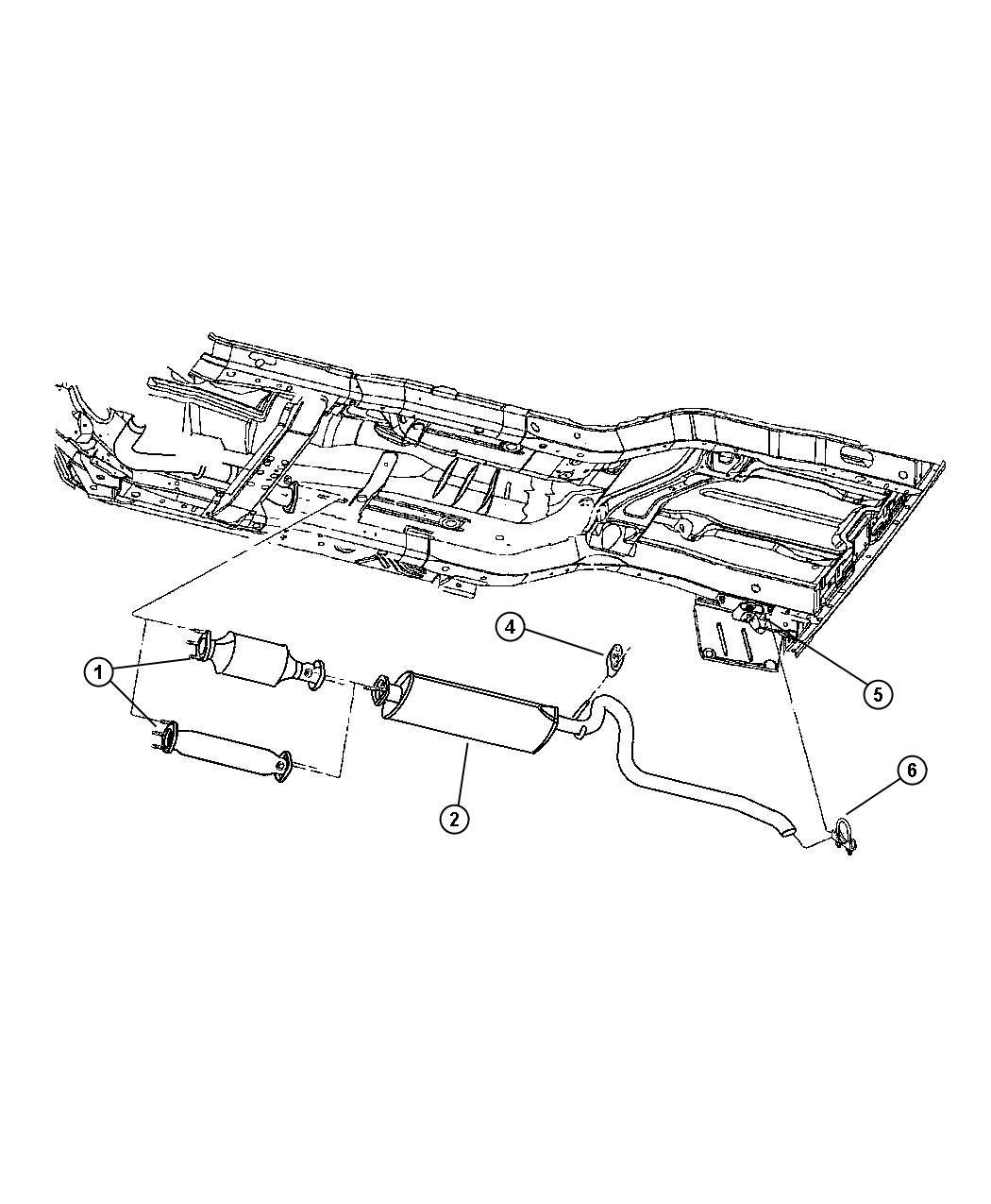 Jeep Cherokee Exhaust System Rear Erh