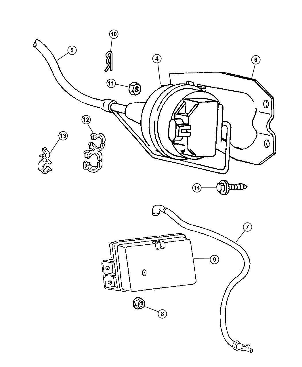Dodge Ram Reservoir Vacuum Cruise Control