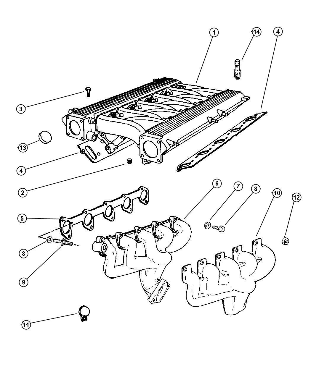 Dodge Viper Gasket Exhaust Manifold