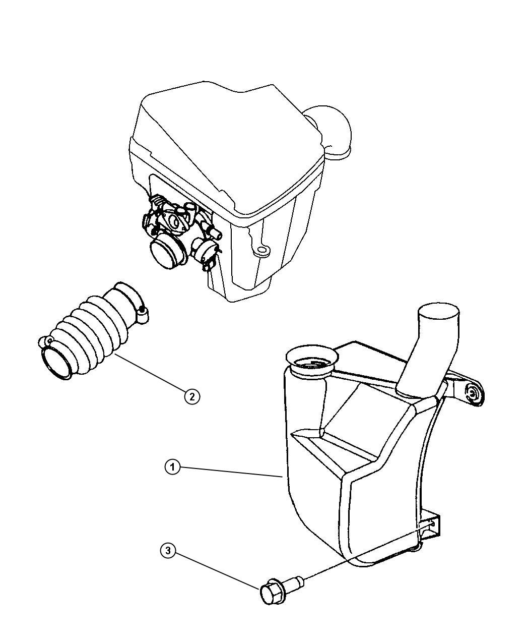 Dodge Neon Duct Throttle Body