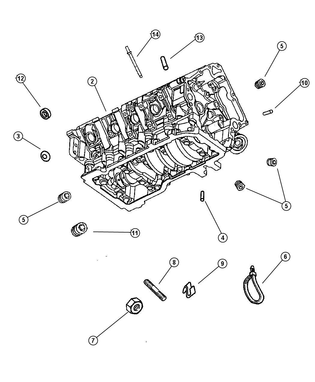 Jeep Grand Cherokee Plug Cylinder Block Oil Hole 065