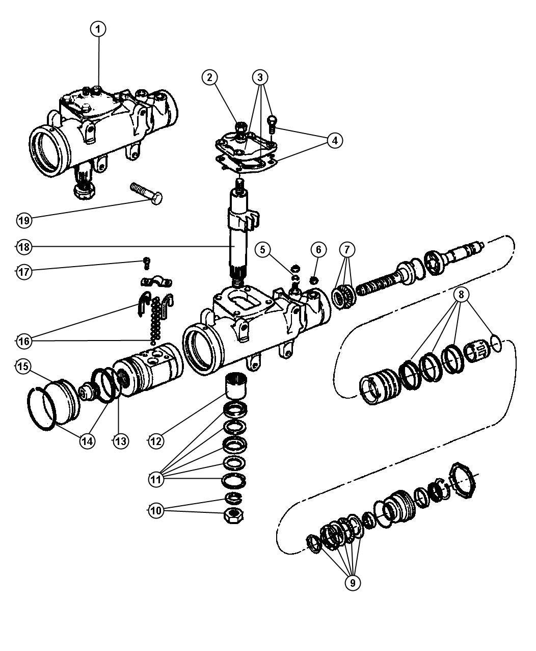 Plymouth Voyager Gear Power Steering Z1b Z6a Body 62
