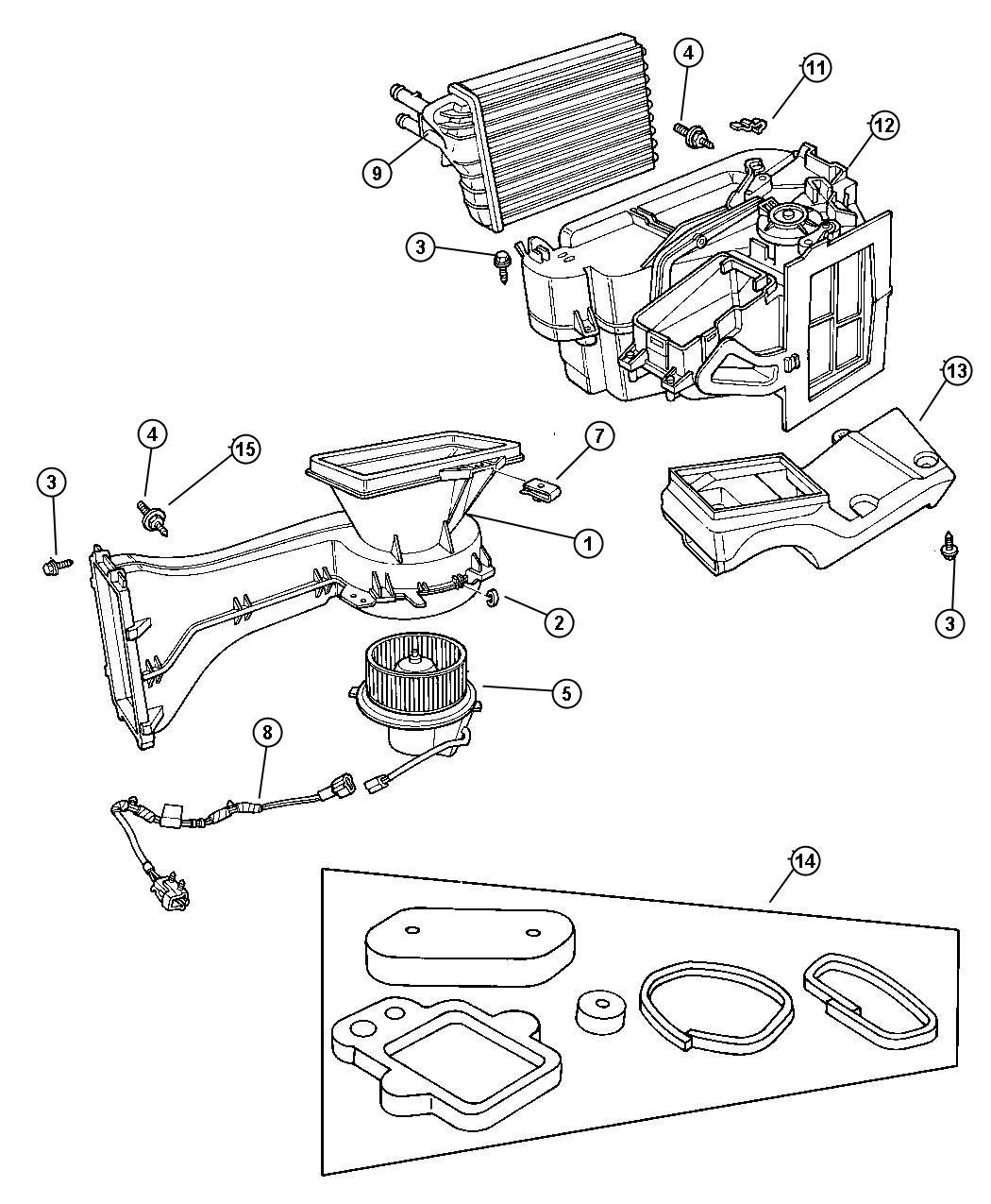 Chrysler Pt Cruiser Motor Blower With Wheel