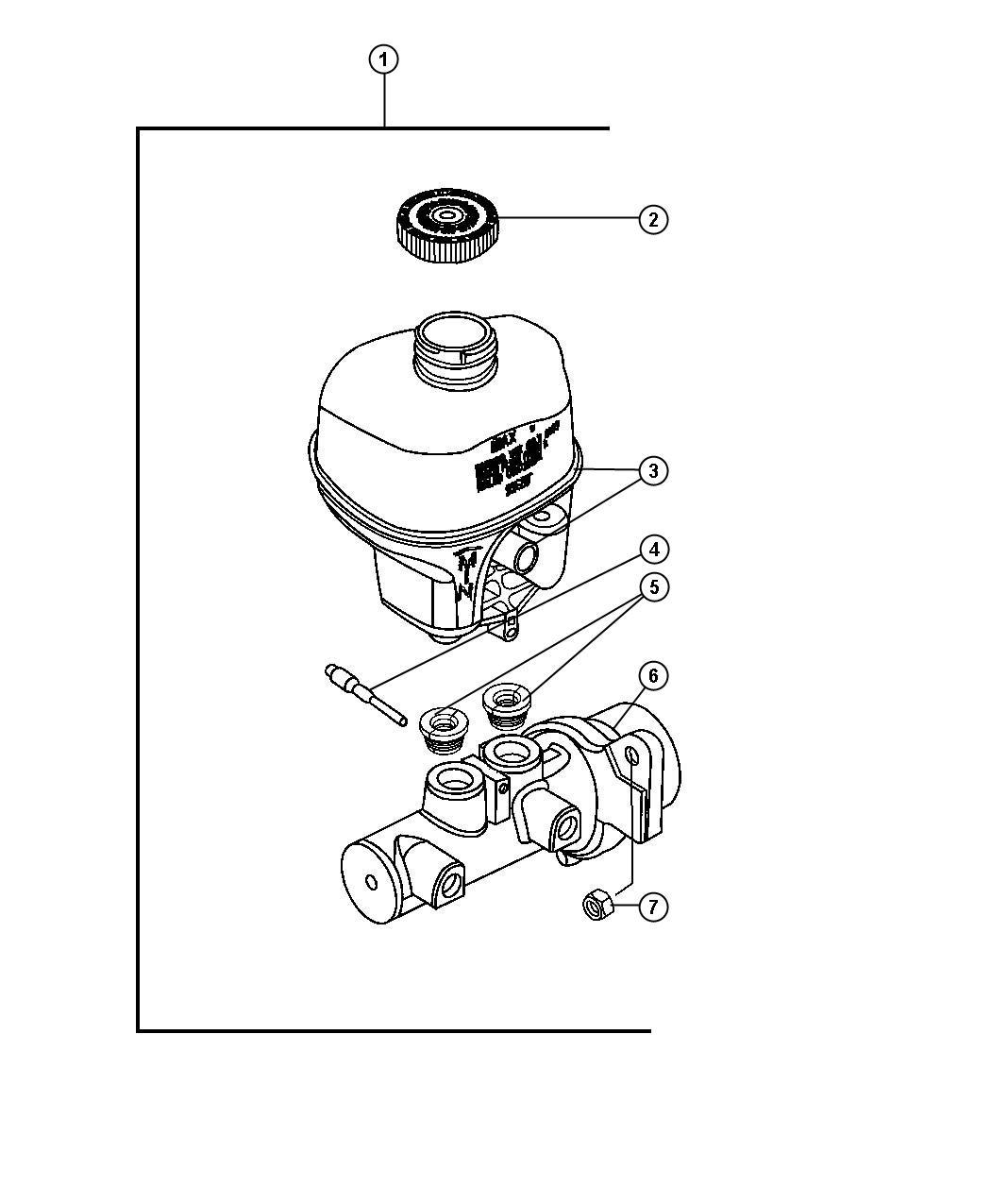 Dodge Ram Reservoir Brake Master Cylinder