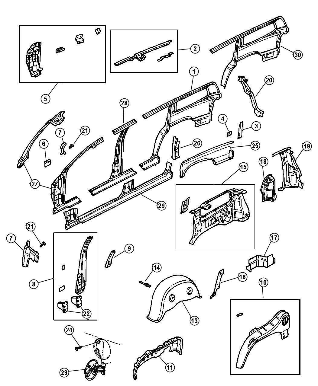 Dodge Durango Panel Package Body Side Aperture Center
