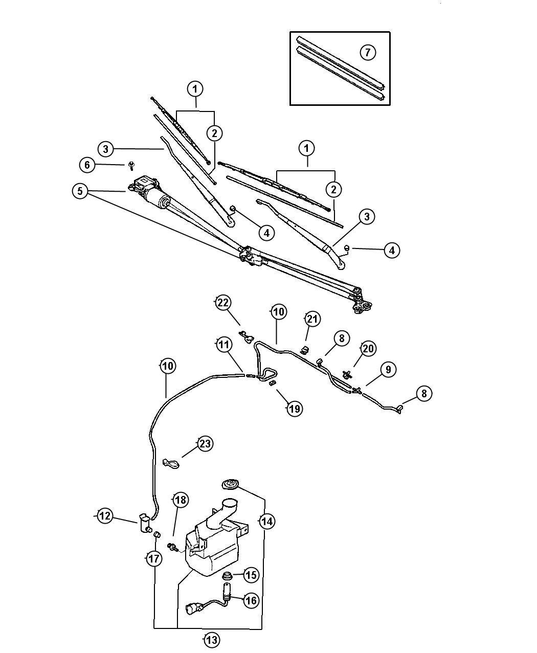 Dodge Stratus Nozzle Windshield Washer Right