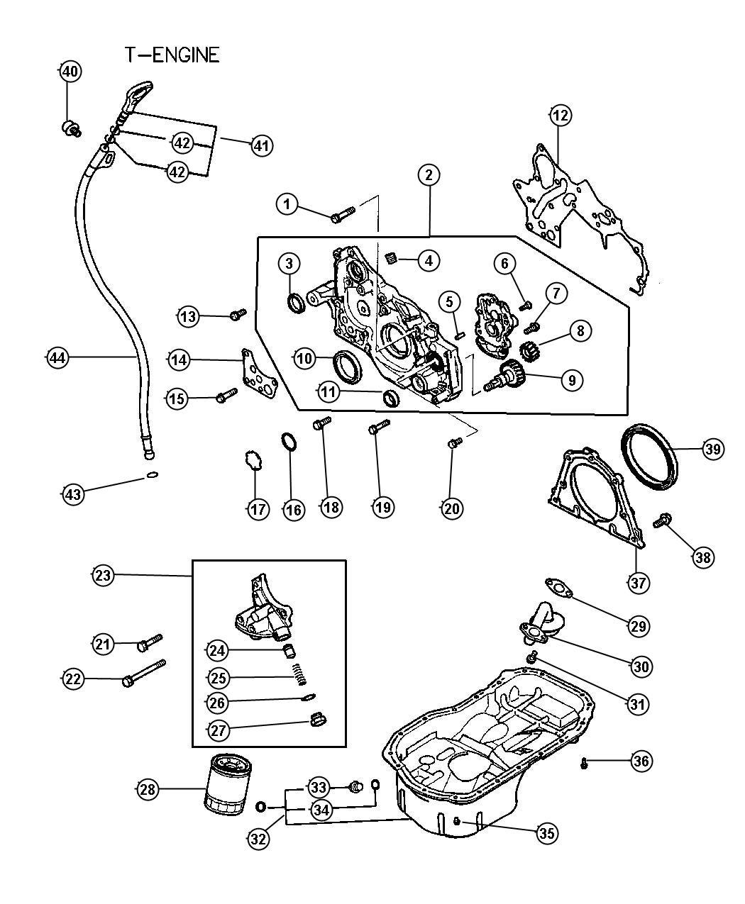 Chrysler Sebring Filter Engine Oil