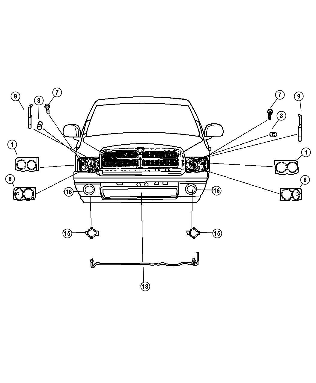 Dodge Ram Socket Used For Park And Turn Signal