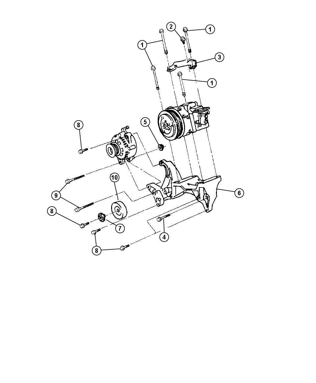 Dodge Brace A C Compressor A C Compressor Bracket