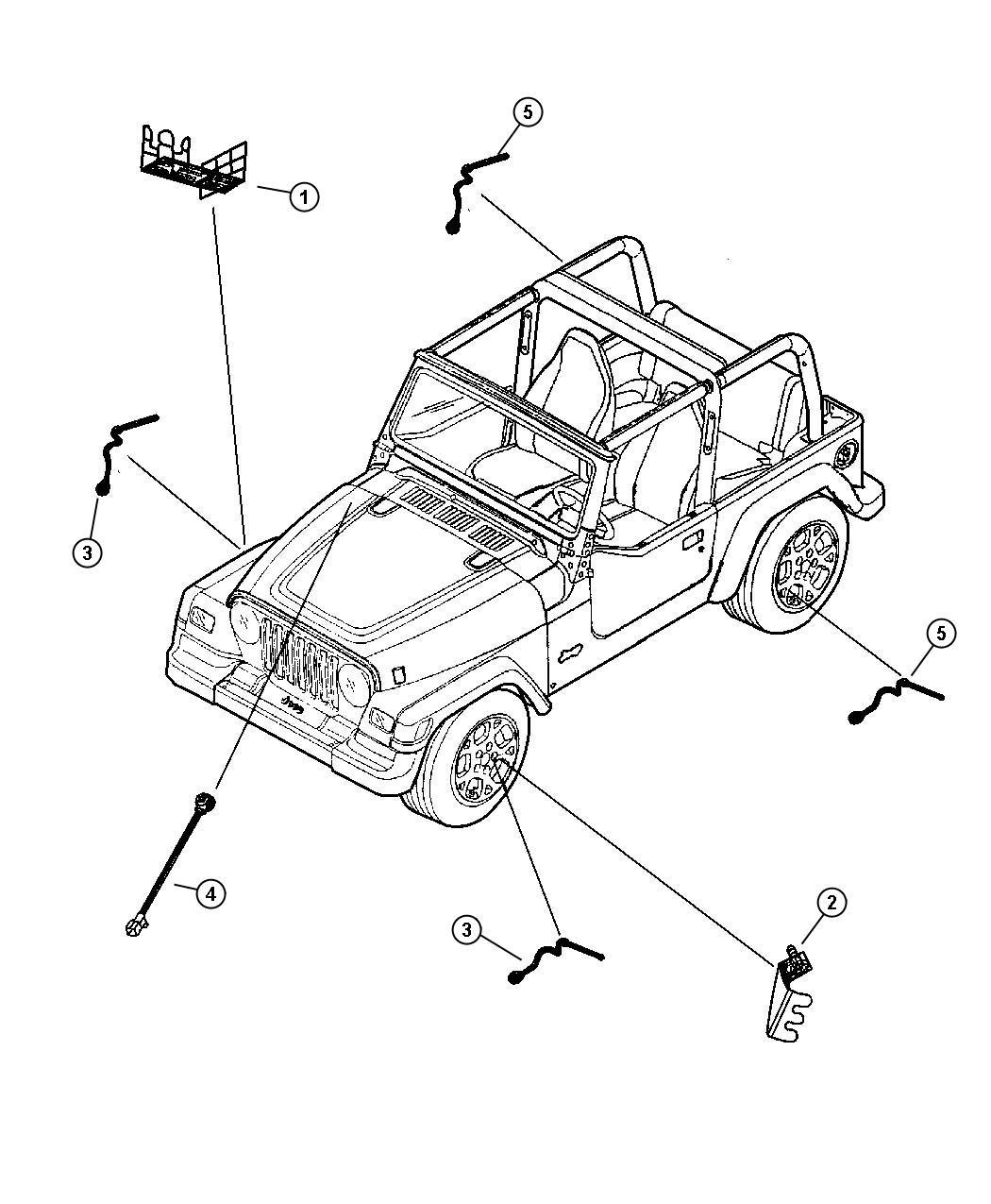 Jeep Wrangler Bracket Abs Sensor Mounting To Left Rear