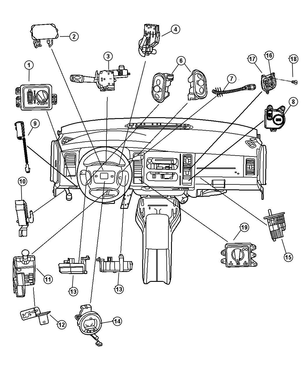 Dodge Avenger Switch Right Radio Control Remote Radio