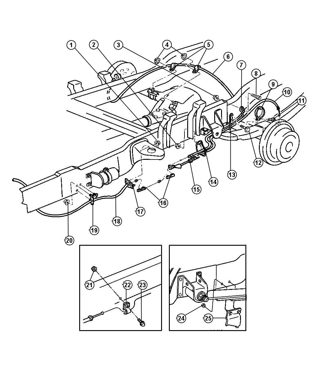Dodge Ram Tensioner Parking Brake Cable Adjust