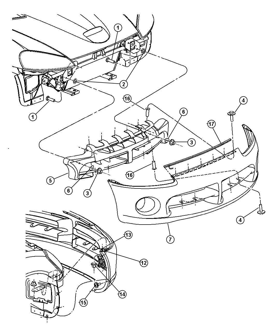 Dodge Fascia Front Primed Toneblack