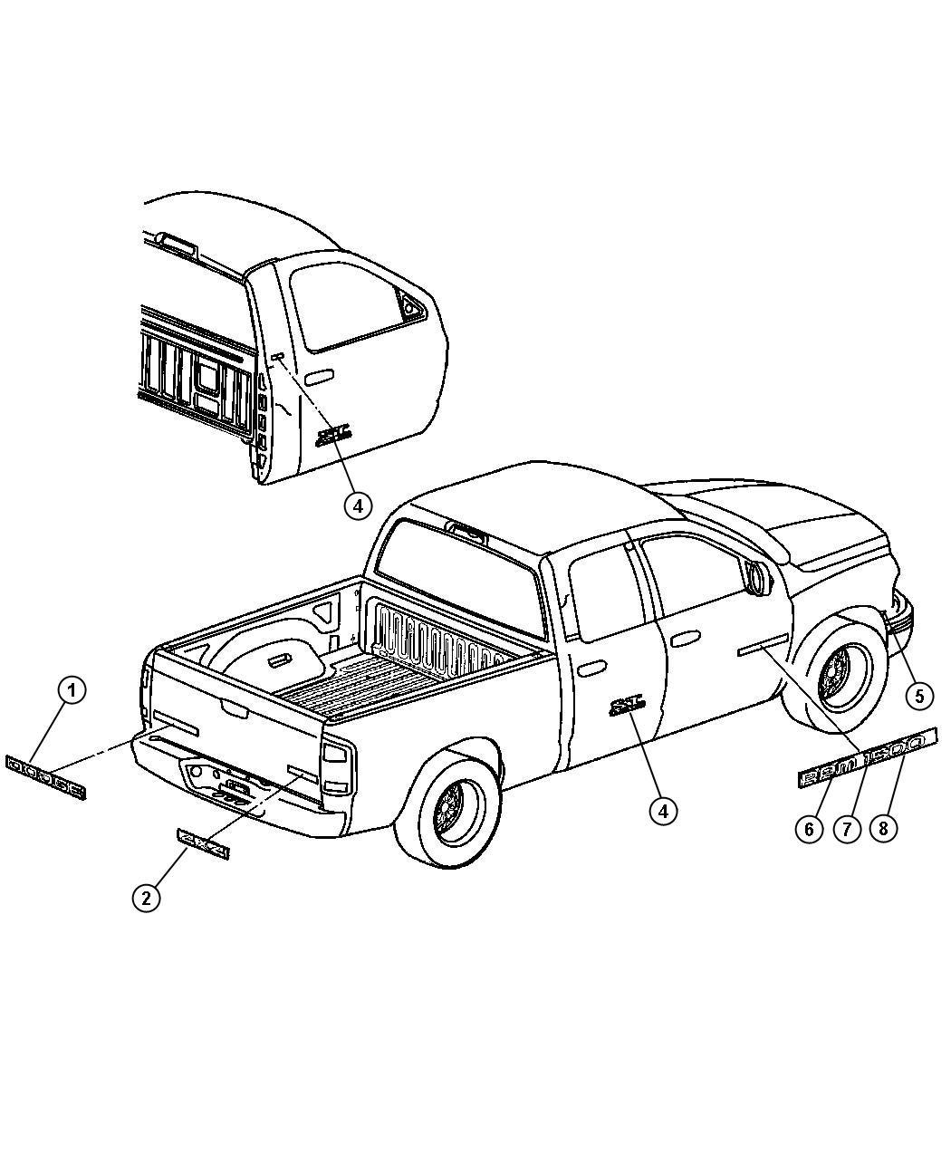 Dodge Ram Nameplate V10