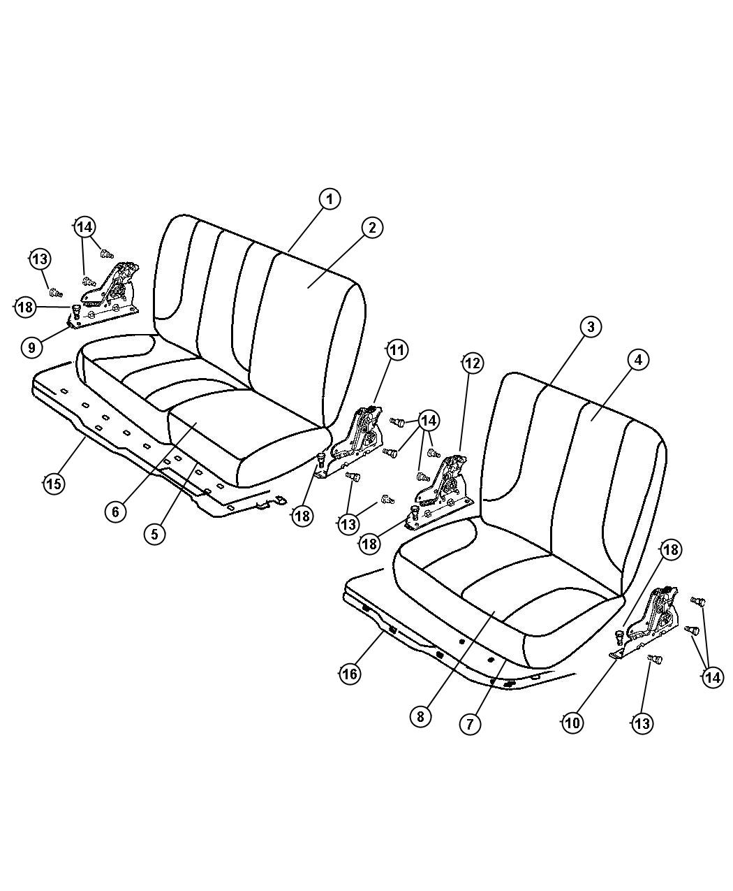 Dodge Ram Cushion Rear Seat L5 Trim Seat