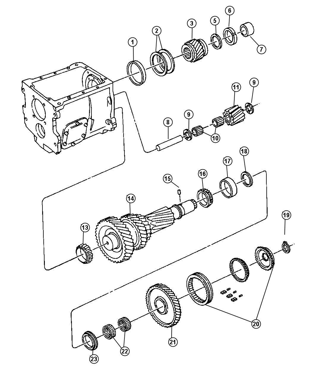 Dodge Avenger Snap Ring Package Transmission Ring
