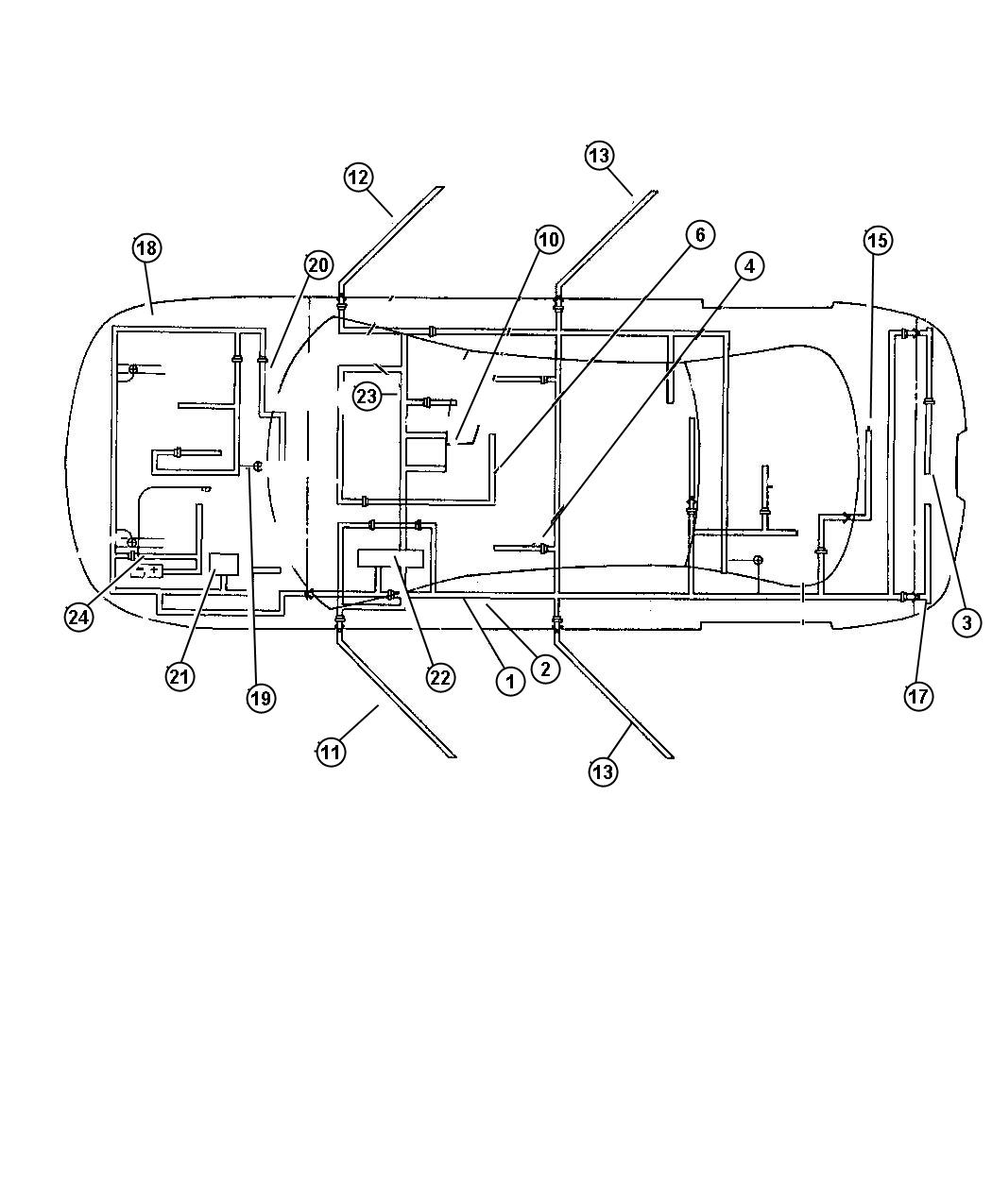 Chrysler 300 Bracket Power Outlet Auxilary Power Harness
