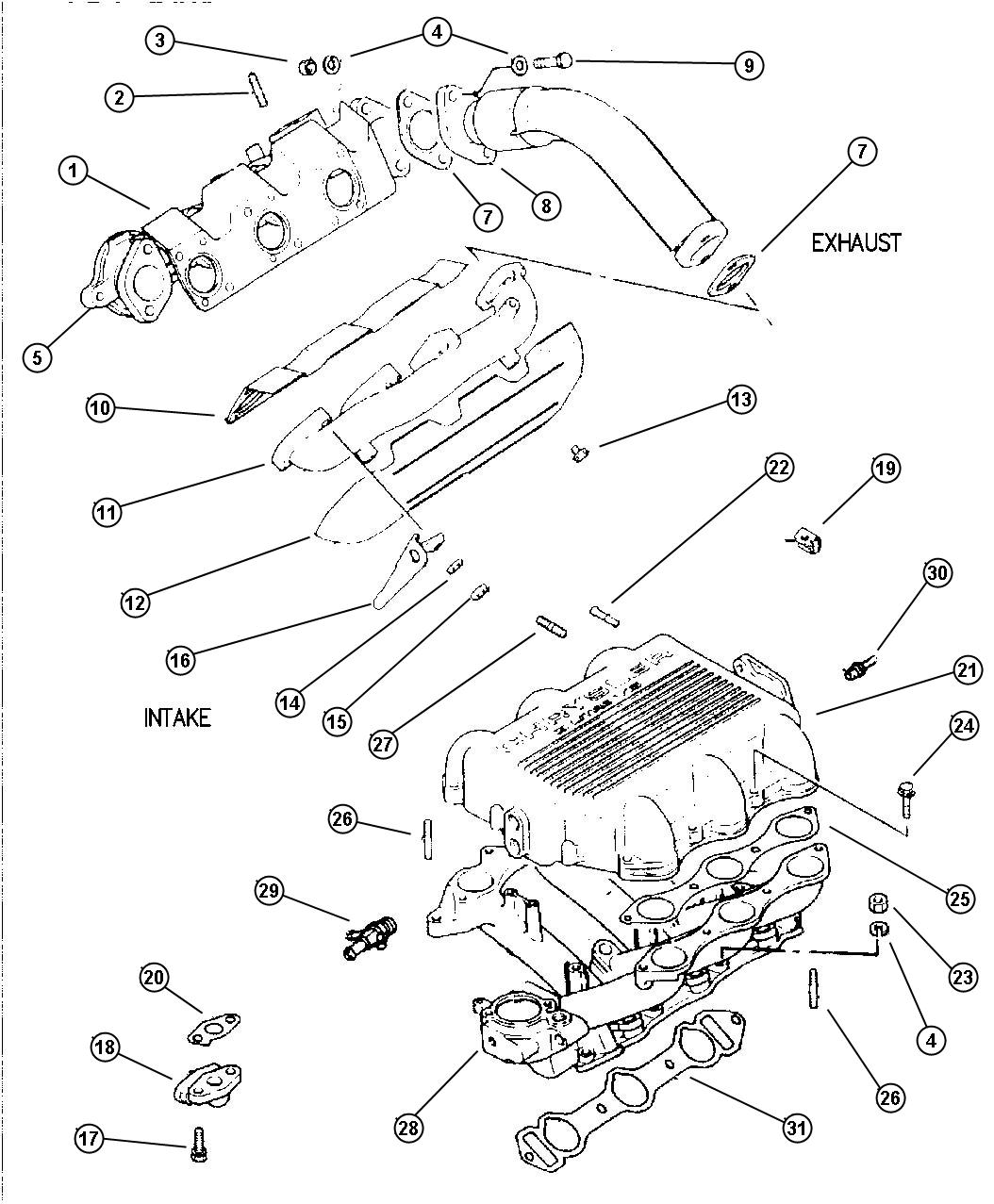 Dodge Grand Caravan Cover Exhaust Manifold Right Hand