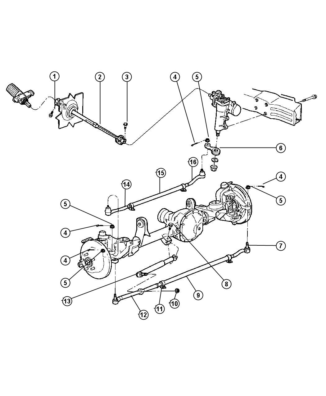Jeep Grand Cherokee Steering Linkage