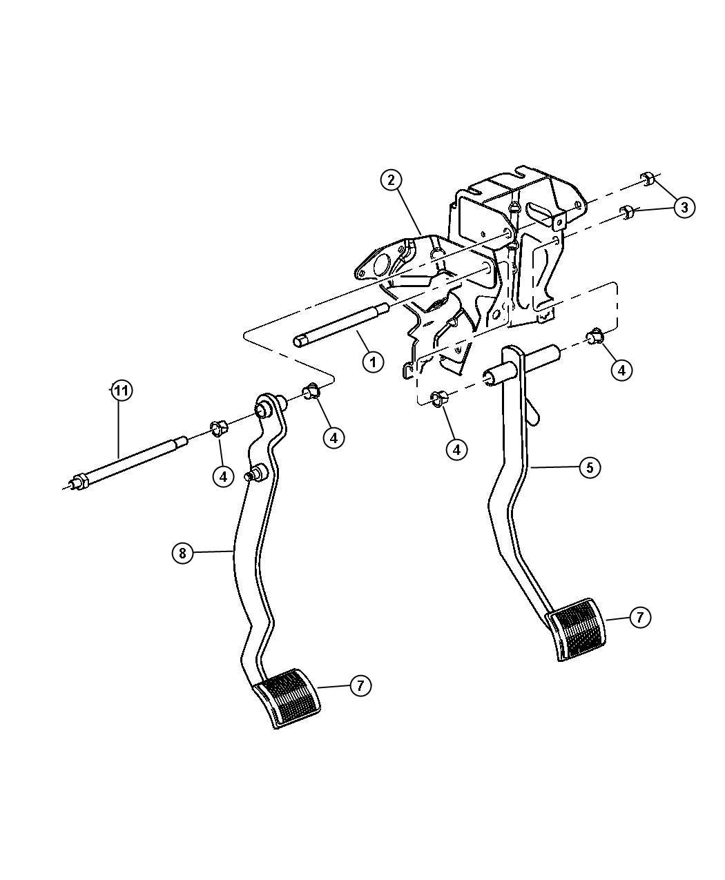 Dodge Stratus Pad Brake Pedal Manual Transmission