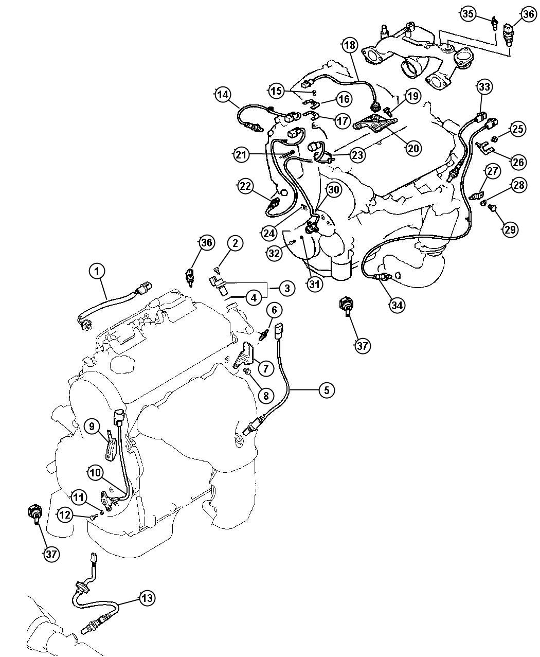 Chrysler Sebring Bracket Knock Sensor