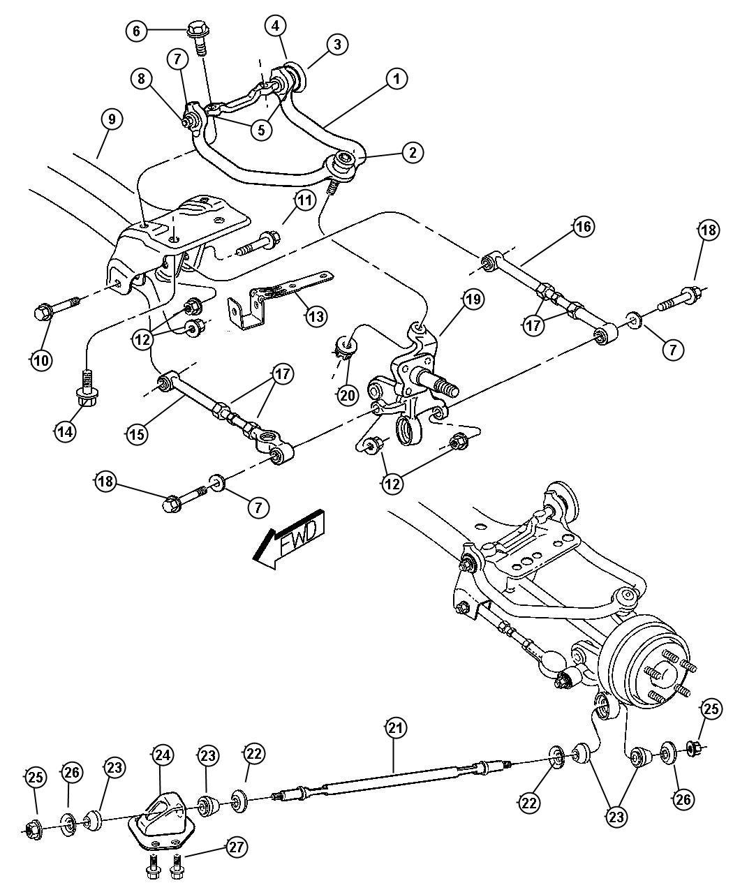 Chrysler Sebring Arm Control Upper Left Up To 12 3