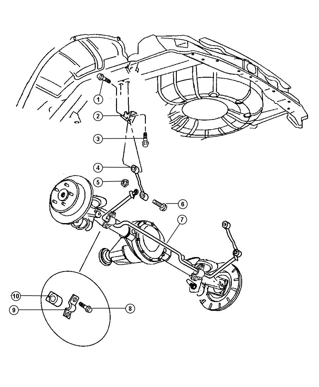 Jeep Grand Cherokee Bracket Mounting Suspension