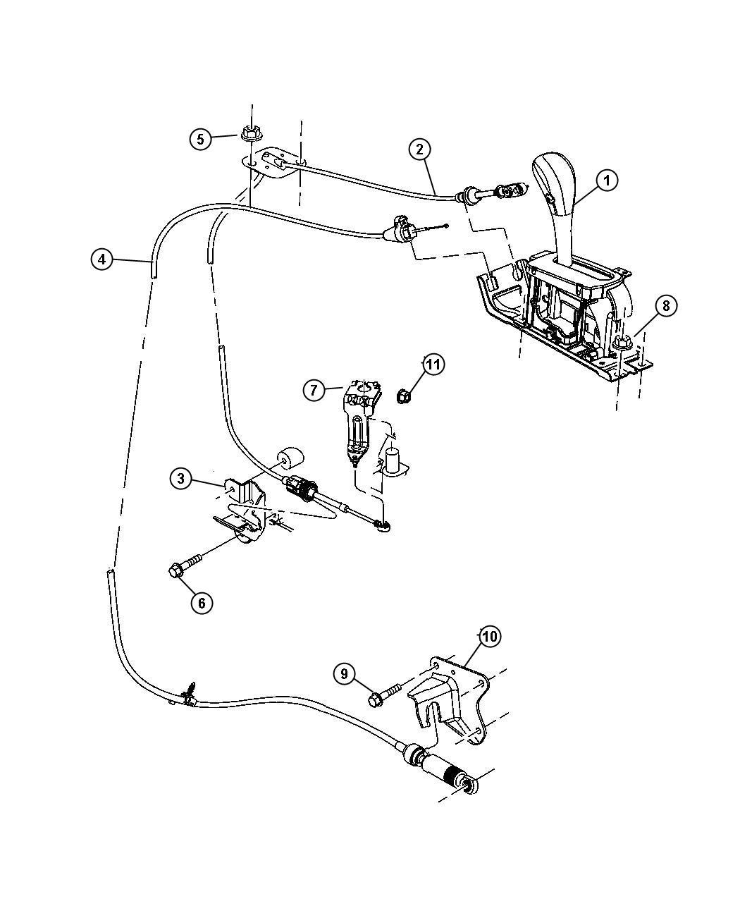 Jeep Liberty Cable Gearshift Lock Park Interlock