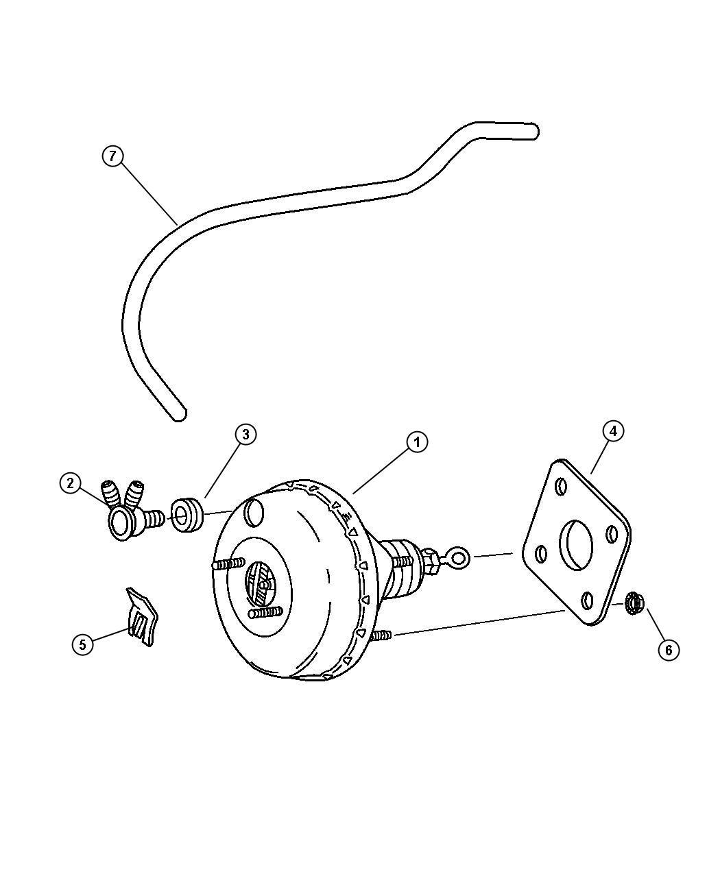 Chrysler Pt Cruiser Hose Brake Booster Vacuum
