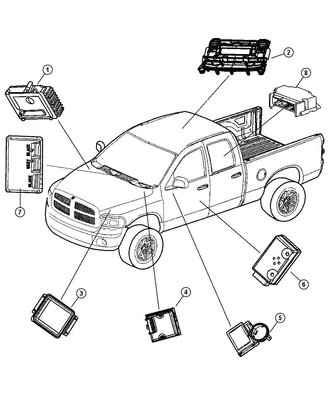 Dodge Ram Module Transfer Case Control