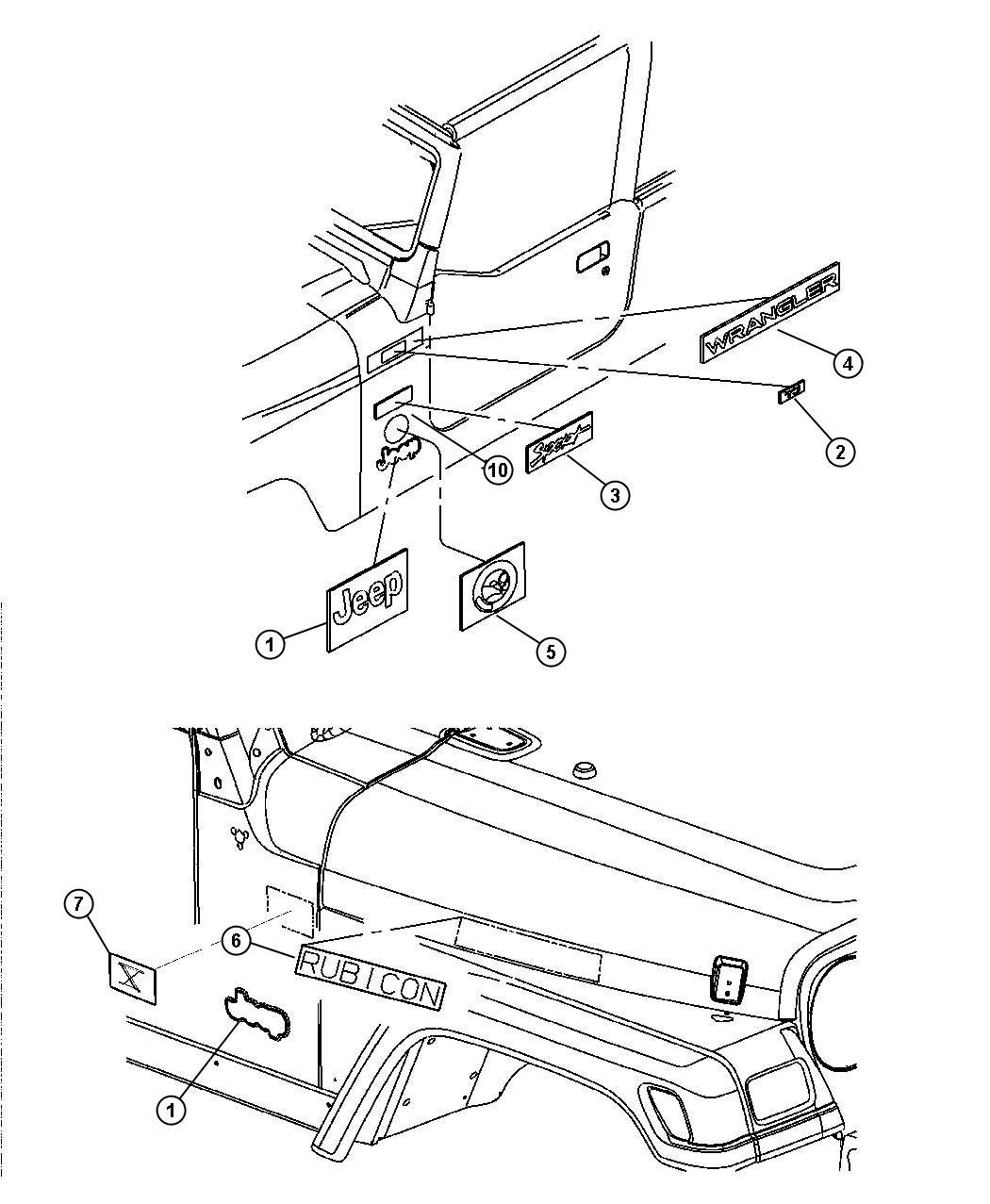 Jeep Wrangler Decal No Description Available Color