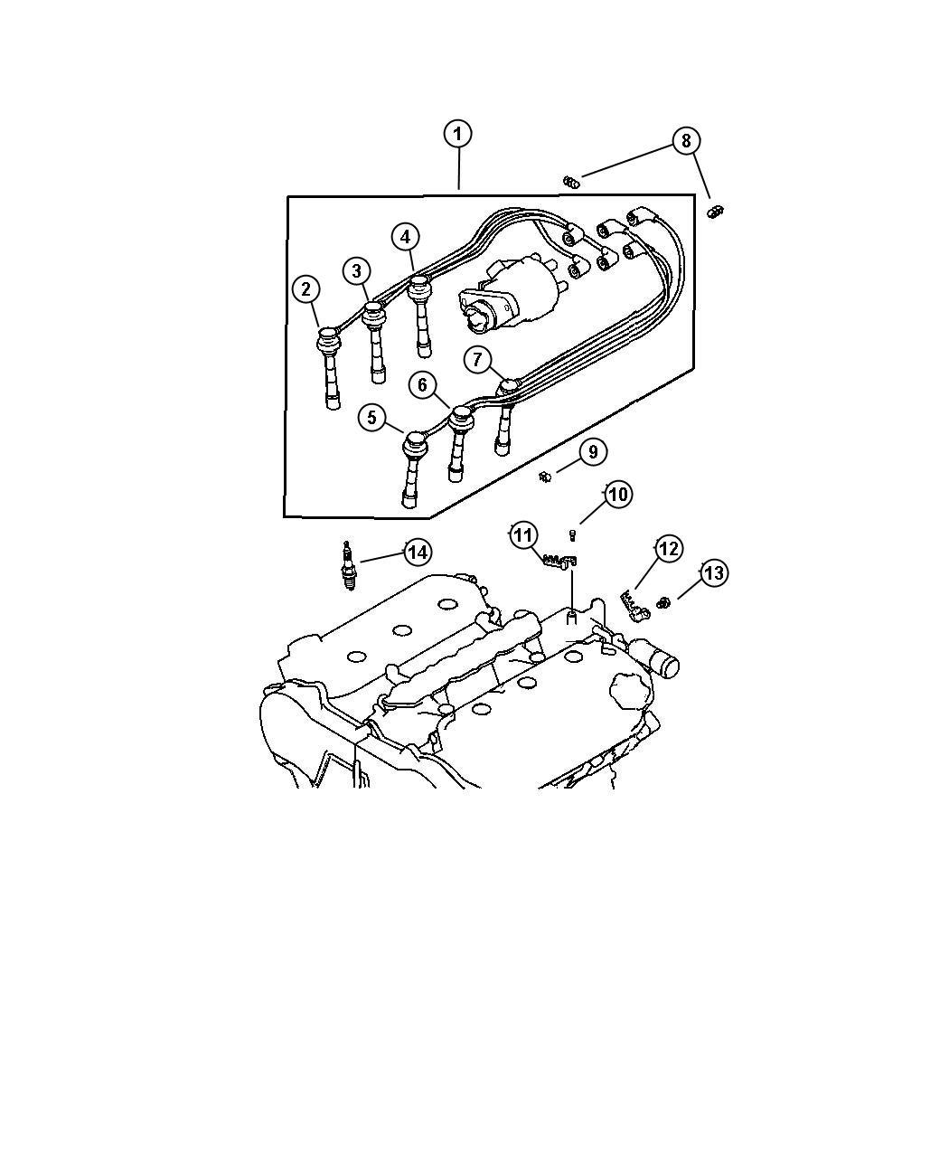 Chrysler Sebring Cable Ignition 2 Number 2