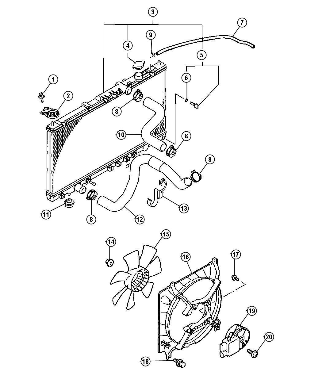 Chrysler Sebring Radiator Engine Cooling