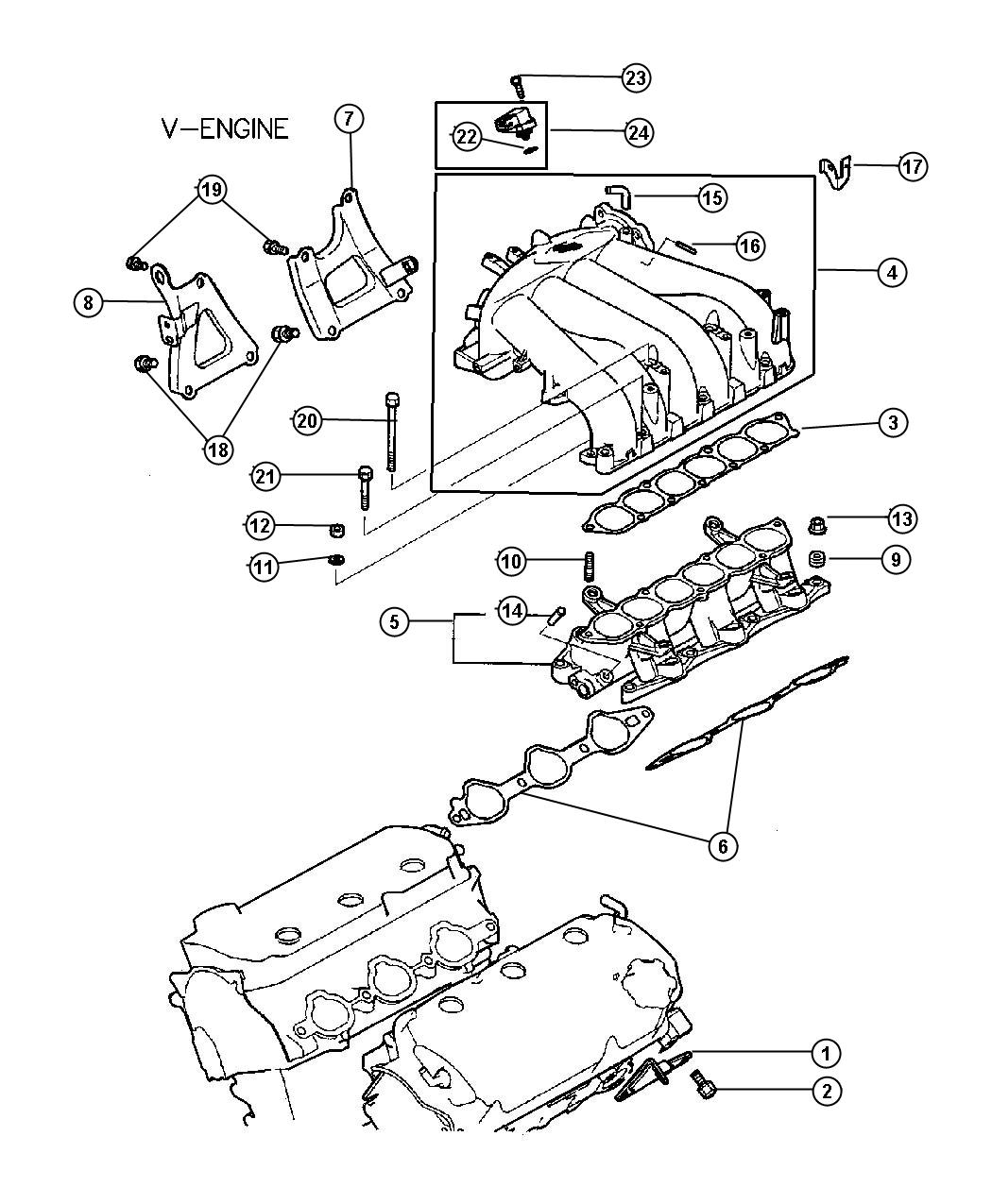Chrysler Sebring Hanger Engine