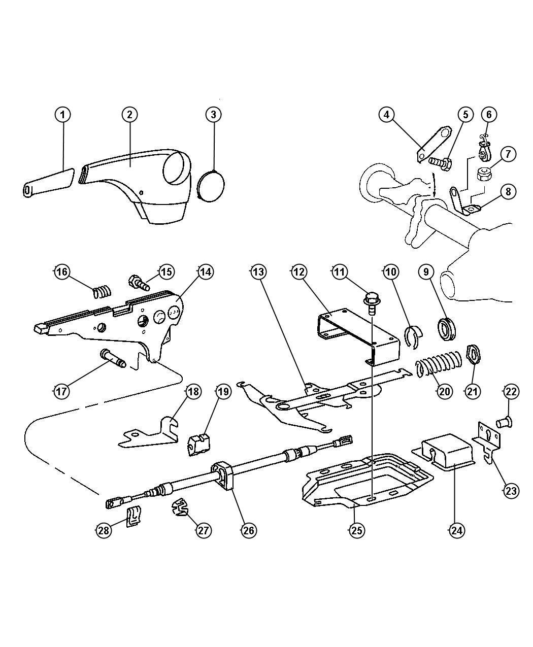 Dodge Ram Equalizer Parking Brake Cable