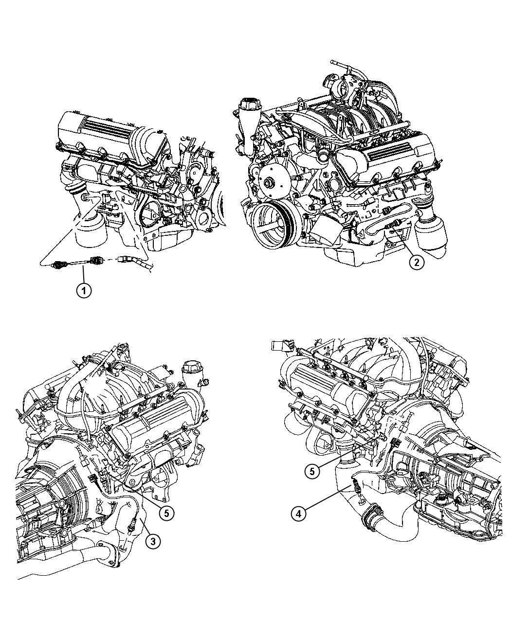 Dodge Dakota Sensor Oxygen After Catalyst Left Right
