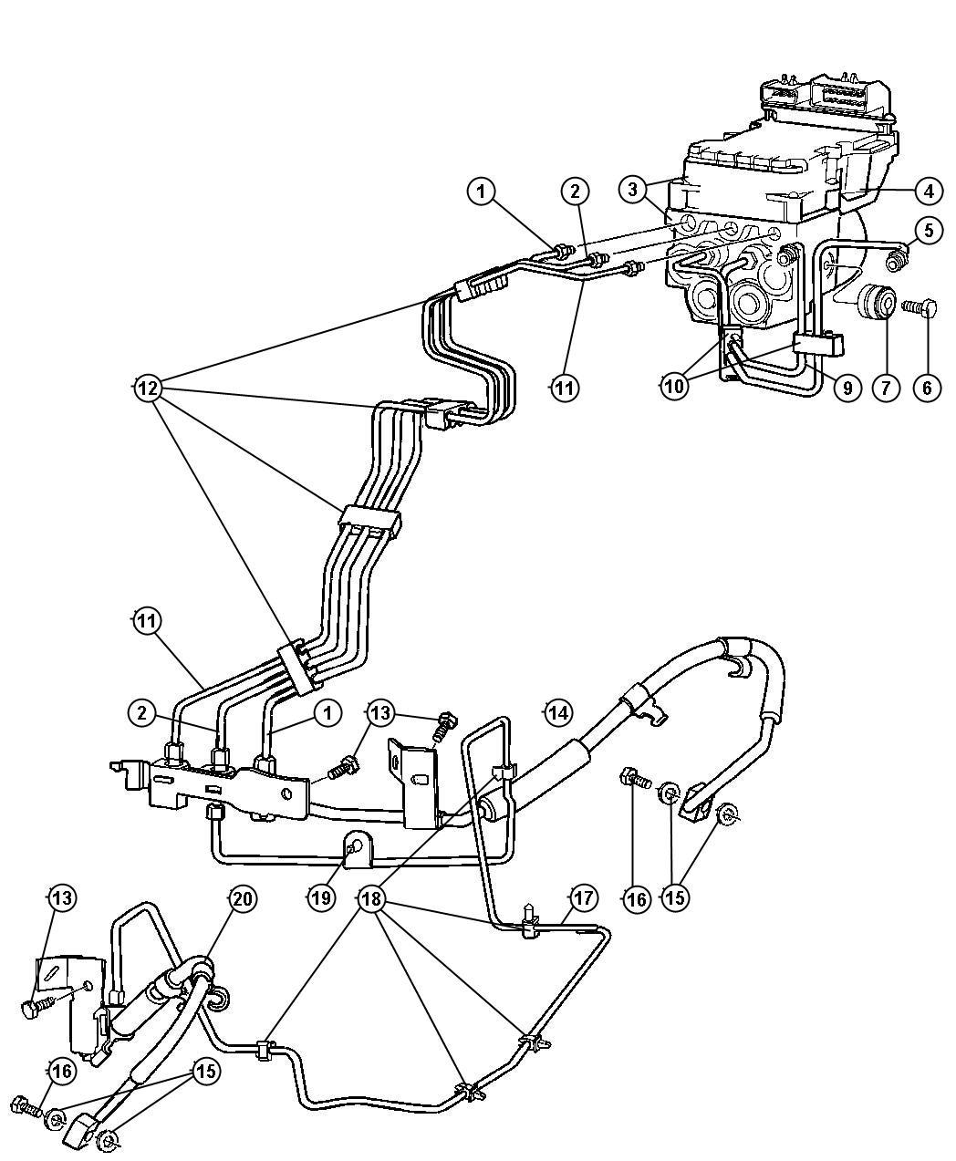 Dodge Ram Tube Brake Secondary