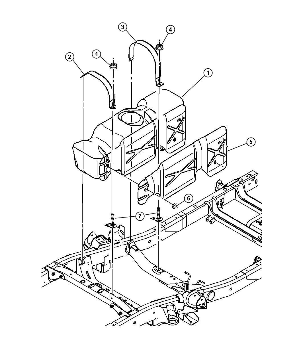 Dodge Ram Tube Fuel Vapor Recirculation