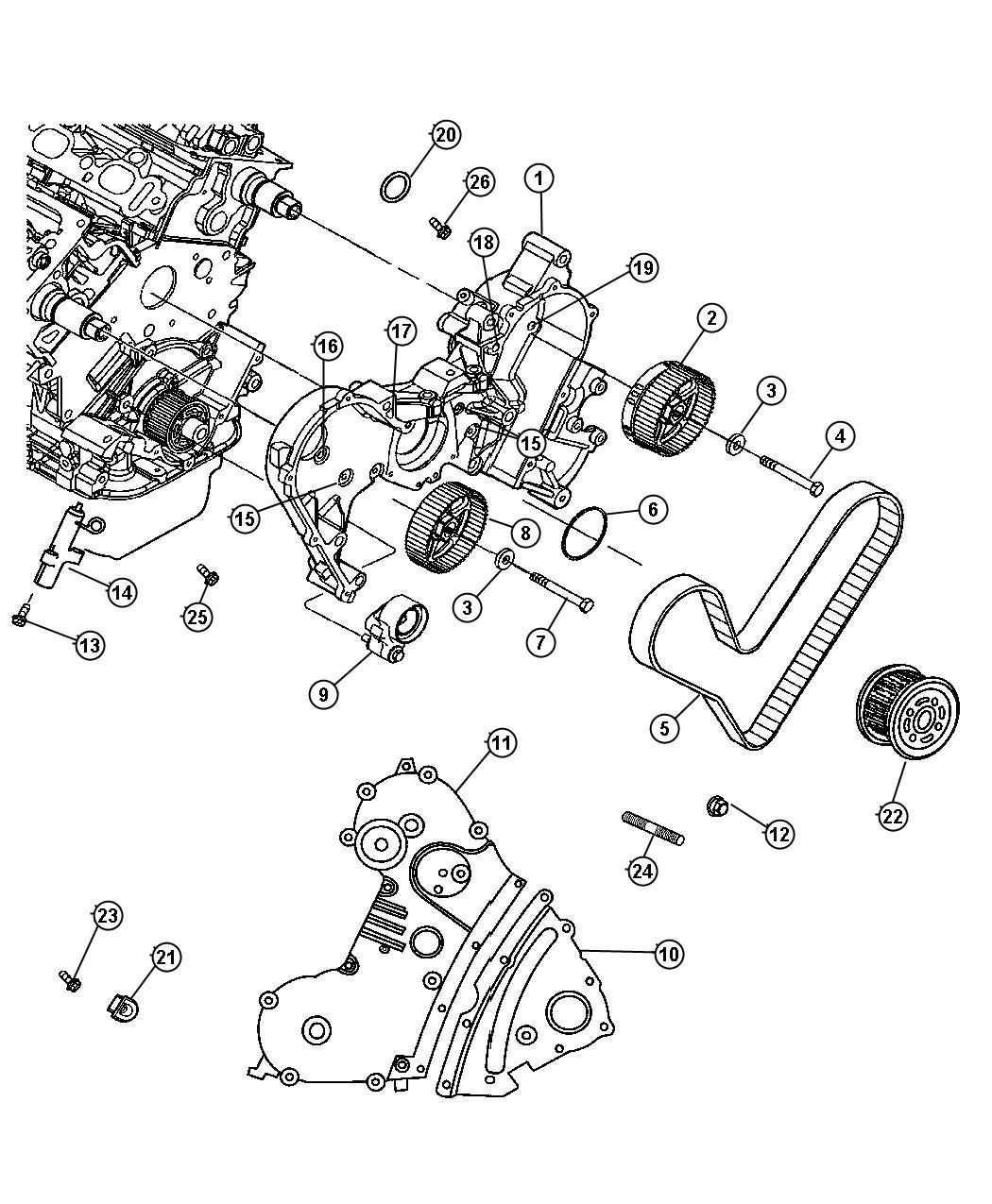 Chrysler Pacifica Tensioner Belt Crank